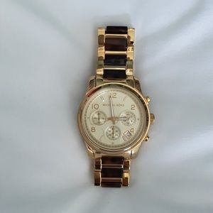 Michael Kors Runway Women's Watch~Goldtone